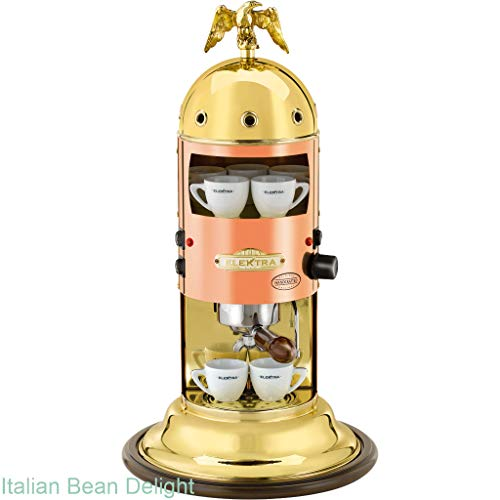 Mini Verticale Espresso Machine Finish: Copper and Brass