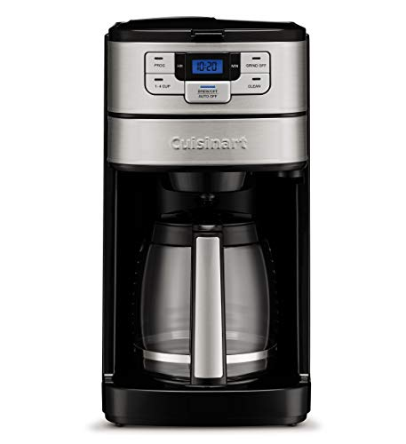 Cuisinart DGB-400 Automatic Grind & Brew 12-Cup Coffeemaker, Black/Silver