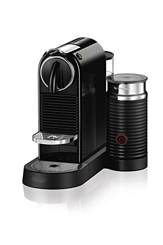 Nespresso EN267BAE Original Espresso Machine Bundle with Aeroccino Milk Frother by De'Longhi, 9.3 x 14.6 x 10.9 inches, Black