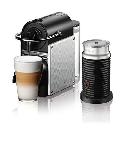 Nestle Nespresso EN124SAE Original Espresso Machine Bundle with Aeroccino Milk Frother by De'Longhi, 2.3, Aluminum