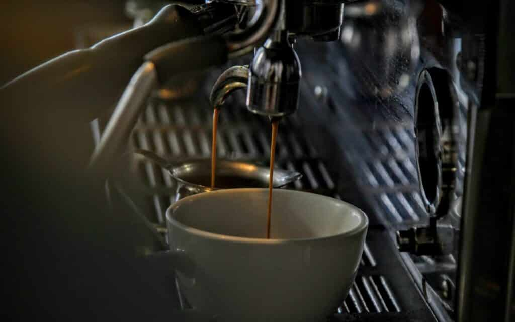 best espresso machine pouring