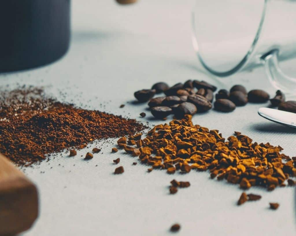 Different types of coffee pictures together