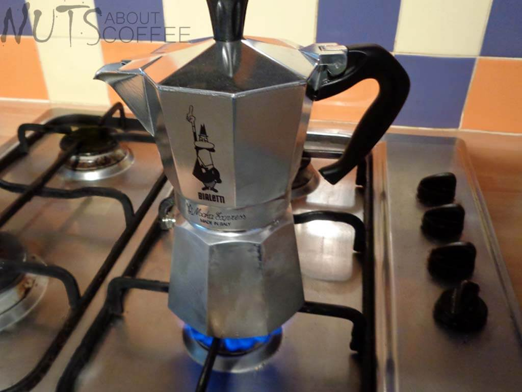How to use a stovetop coffee maker step 3