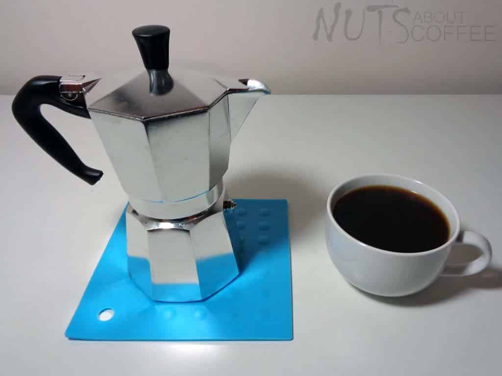 How to use a stovetop coffee maker step 5