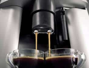 bean to cup espresso machine pour